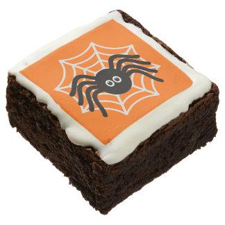 Cute Halloween Spider Brownies