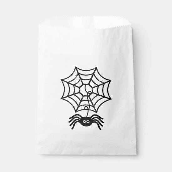 Cute Halloween Spider Favor Bags