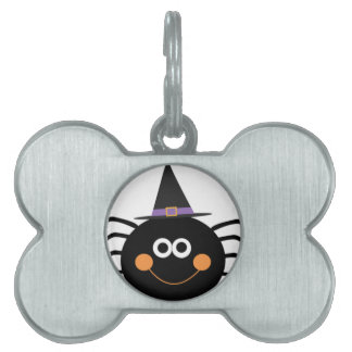 cute halloween spider pet ID tag