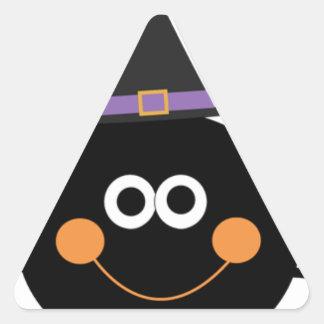 cute halloween spider triangle sticker