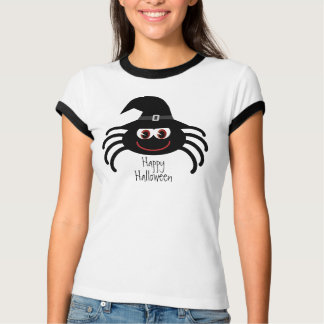 Cute Halloween Spider with Witches Hat T-Shirt