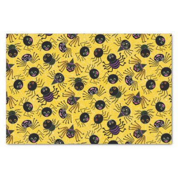 Halloween Themed Cute Halloween Spiders Tissue Paper