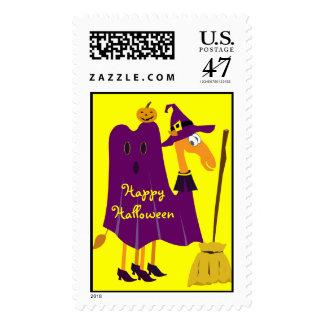 Cute Halloween Stamp: Camel in Witch Costume Postage