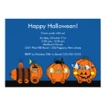 Cute Halloween Train Party Invitation for Kids