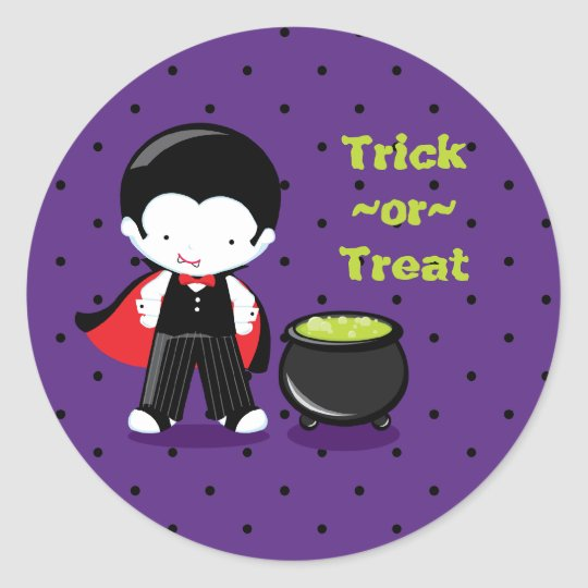 Cute Halloween trick or treat party stickers