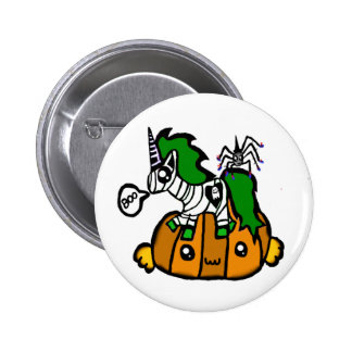 Cute halloween unicorn and pumpkin and spider pin