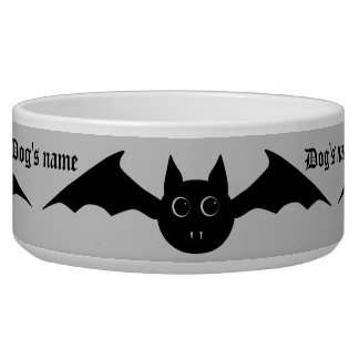 Cute Halloween vampire bat with big eyes Bowl