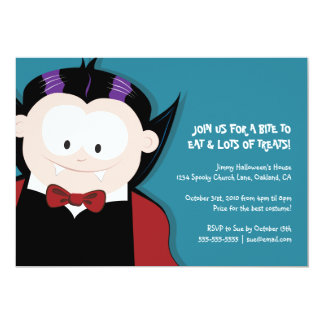 Cute Halloween Vampire | Kids Party Invitation