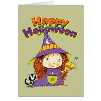 Cute Halloween Witch Card