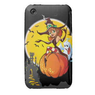 Cute Halloween Witch Case-Mate iPhone 3 Case