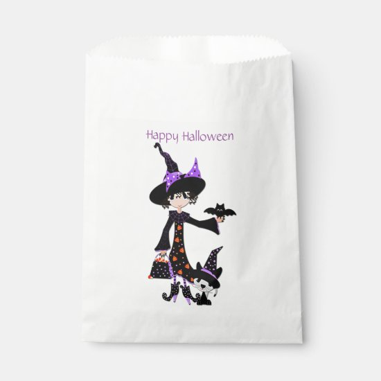 Cute Halloween Witch Favor Bag