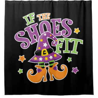 Cute Halloween Witch - If the Shoes Fit Shower Curtain