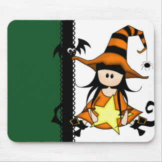 Cute Halloween Witch Mousepad