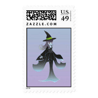 Cute Halloween Witch Postage