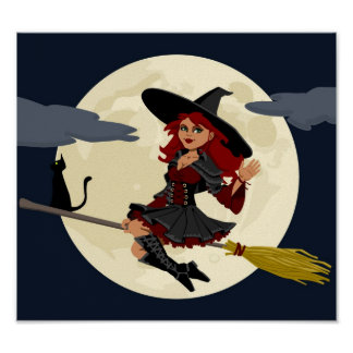 Cute Halloween Witch Poster