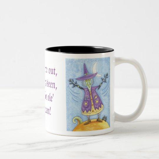 Cute Halloween Witch Two-Tone Coffee Mug