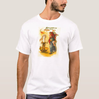 Cute Halloween Witch with Candle T-Shirt