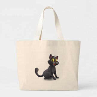 Cute Halloween Witches Cat Cartoon Tote Bag