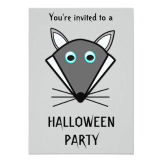 Cute Halloween Wolf Customizable Invitation