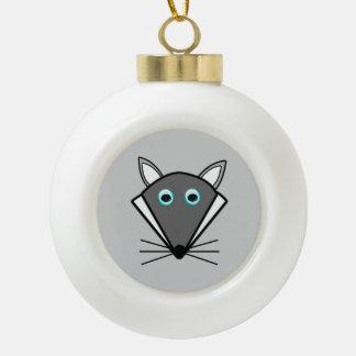Cute Halloween Wolf Ornament Ornaments