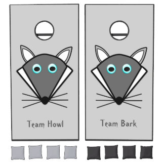 Cute Halloween Wolf Personalized Cornhole Set