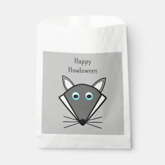 Cute Halloween Wolf Personalized Trick or Treat Favor Bag