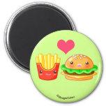 Cute Hamburger & Fries Magnet