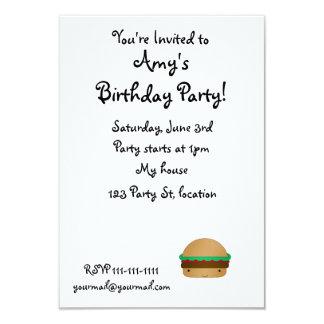 Cute hamburger personalized invite