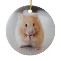 Cute hamster ceramic ornament