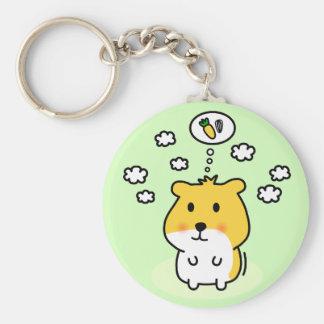cute hamster dream basic round button keychain