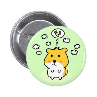 cute hamster dream pinback buttons