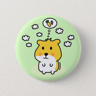 cute hamster dream pinback button