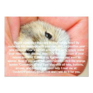 Cute Hamster Face 1 Card
