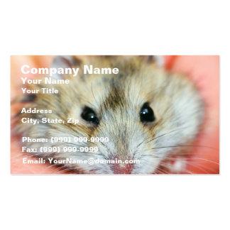Cute Hamster Face 2 Business Card