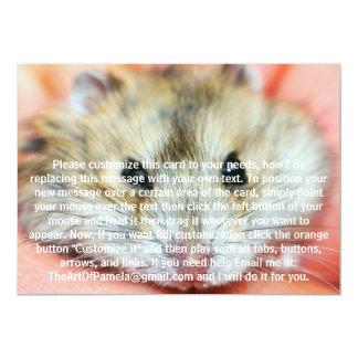 Cute Hamster Face 2 Card