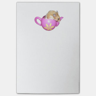 Cute Hamster in a Pink Teapot Photo Post-it® Notes