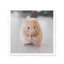 Cute hamster paper napkin