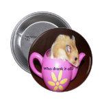 Cute Hamster Pinback Button