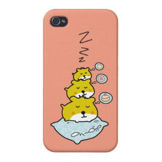 Cute hamster sleep time iPhone 4/4S cover