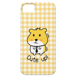cute hamster suited up iPhone 5 cases