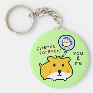 cute hamster timmy and friends keychain