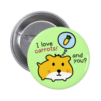 cute hamster timmy pinback buttons