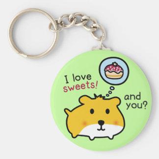 cute hamster timmy keychain