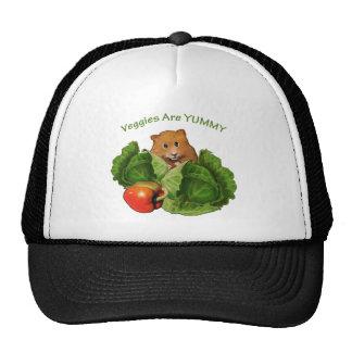 Cute Hamster: Veggies Are Yummy: Health, Nutrition Trucker Hat