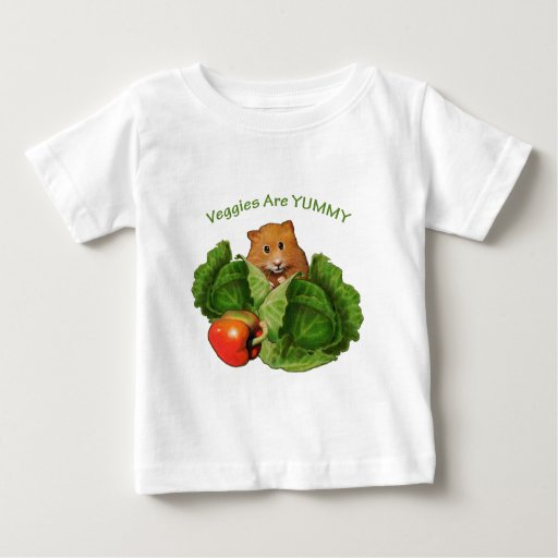Cute Hamster: Veggies Are Yummy: Health, Nutrition Shirt