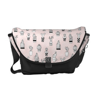 Cute Hand Drawn Cactus Pattern Courier Bag