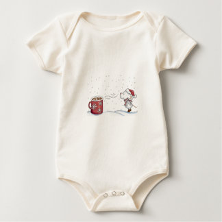 Cute hand drawn mouse design for Christmas Baby Bodysuit