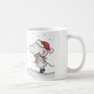 Cute hand drawn mouse design for Christmas Coffee Mug