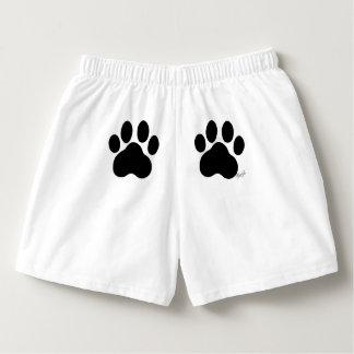 Cute Hand Drawn Paws Unisex Sleepwear Shorts
