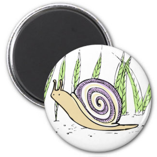 Cute Hand Drawn Snail Drawing Magnet